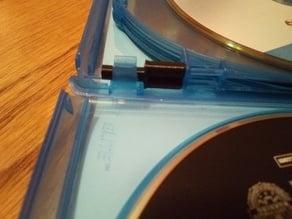 Blu-ray case multi-disc hinge