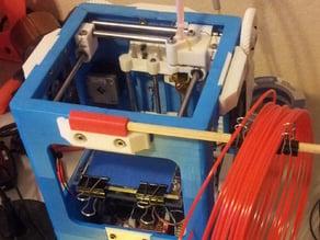 Tantillus dowel mount for loose filament