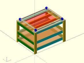 Remix of Allted's Simple CNC Table to make it parametric