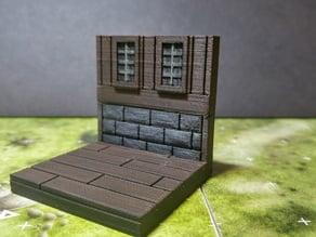 modular wood floor and wall - windows