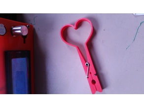 clothes peg heart