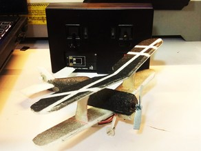 Ultra light 0.45 gram landing gear for micro plane with Plantraco electric system