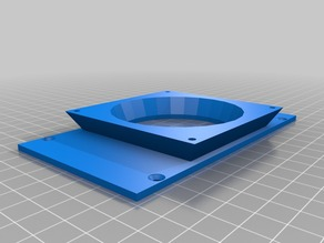 Adapter to 80mm fan for Case for Arduino Mega R3 and RAMPS 1.4