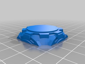 25mm Miniature Base SciFi Gears Rounded