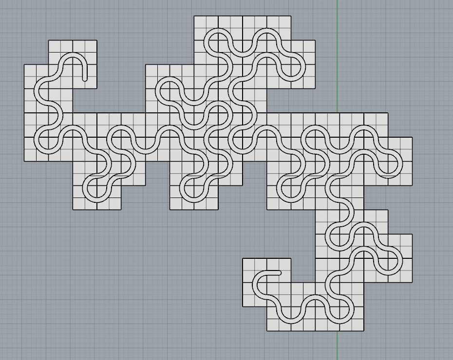 Dragon Curve Mosaic by Intentional3D - Thingiverse