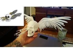 Flying lighting skull