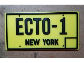 Ghostbusters licence plate ECTO-1