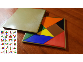 Tangram Puzzle for kids and adults with box