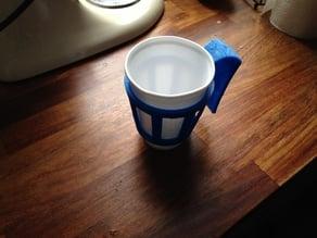 Polystyrene cup handle