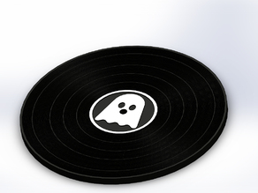 Ghostly Vinyl Record Coasters