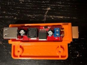 LM2596 dual usb module box with XT60