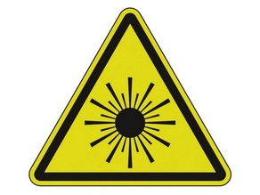 "Sign ""Laser Radiation"""