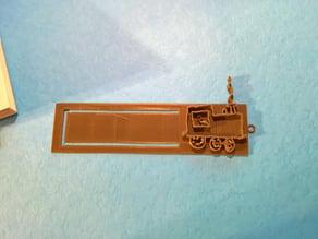 Children's train bookmark