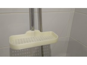 Shower shelf for 20 mm tube.