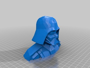 Vader Bust Low Poly