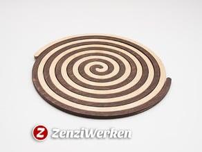 Archimedes spiral trivet cnc/laser