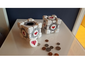 Weighted Companion Cube Piggy Bank