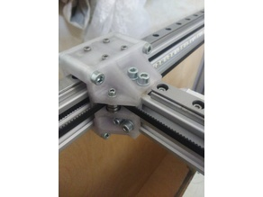 OLD! Strong Y-Carriage for MGN12 rails on 2040 v-slot profile with optical EndStop