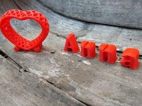 Heart Lattice - no supports needed