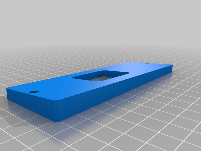 Hikvision Doorbell Wedge Mount (proto1) by pleasantone - Thingiverse