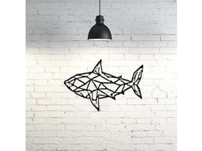 Shark II Wall Sculpture 2D