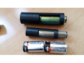 18650 Battery Adapter for 2 C-Cells, 2 D-Cells