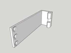 Mounting bracket for a Logitech C310 hd webcam.
