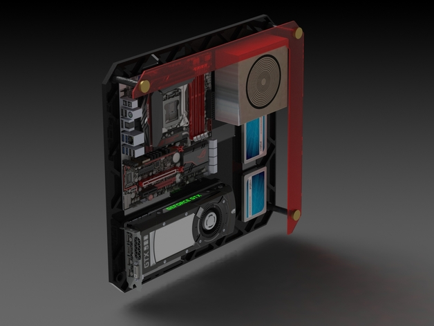 Thingiview - Wall Mount PC CASE AwesomeCAD By AwesomeCAD - Thingiverse