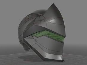 overwatch genji helmet (wearable)