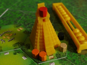 Temple pieces for the board game Tikal