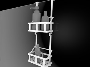 Over Glass Shower Wall Basket/Shelf for shampoo bottles and others products.