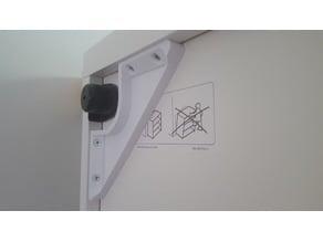 Corner brace for IKEA Besta cabinet