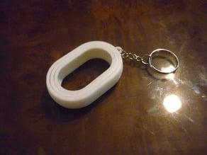 Oval Rotational Keychain
