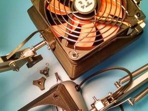 120mm fan Fume extractor mod for ikea tertial work lamp