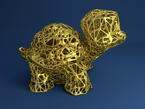 Gustav the Turtle Voronoi Style