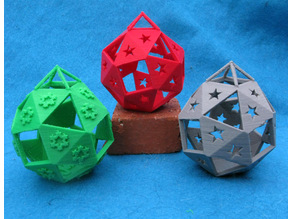 Holiday Ornaments based on a Truncated Octahedron