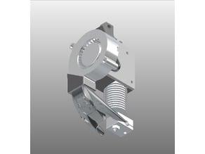 Cooling fan duct & mount for E3D V6 & Titan extruder