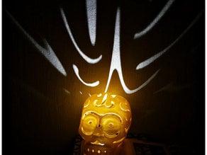 Halloween skull lamps