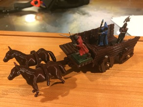 Wagon and Cart for 28mm