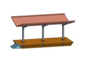 H0 model train platform
