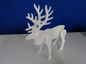Reindeer (3D print for desktop or woodwork with life-size)