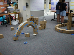Cardboard Brick to make a Roman Arch