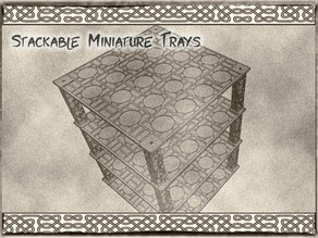 32mm Stackable Miniature Trays (fits 17 minis) for Dungeons & Dragons or Warhammer 40k