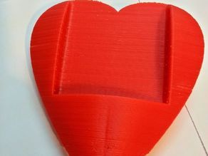 3d printed heart for qi wireless charger