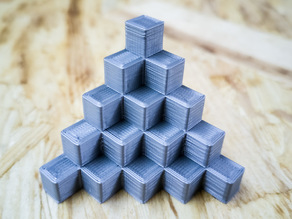 5mm Calibration Cube Steps Pyramid