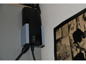 Wall mount for the e-bike charger (from Bulls)