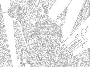 Dalek Victory TSP Single Line Drawing