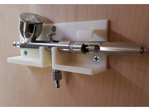 Airbrush Wall Mount Holder with Drip Trays & Anti-Tilt - fitted for an Iwata Eclipse