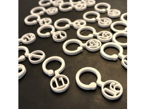 Typewriter keys, knitted stitch markers for knitting