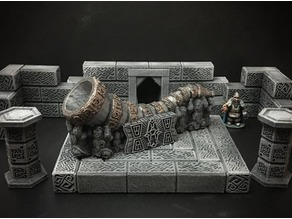 Delving Decor: Dwarven Great Horn (28mm/Heroic scale)